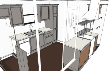 Ikea kitchen drawing 3D
