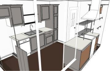 Ikea kitchen drawing 3D