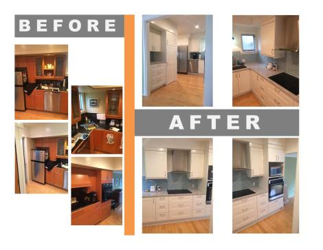 before and after IKEA kitchen remodel