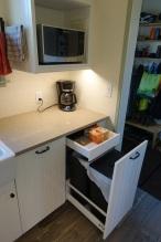Bin drawer with bag storage