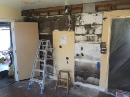 demolition of old kitchen