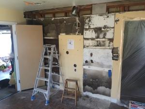 demolition of old kitchen