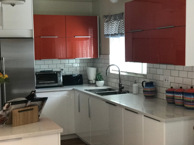 IKEA Sektion kitchen with accent wall cabinets